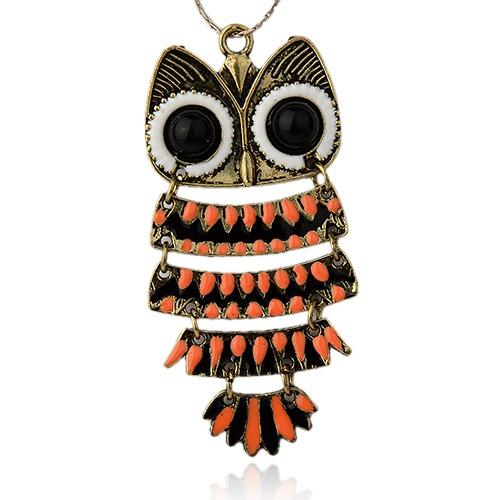 PandaHall Vintage Alloy Enamel Bird Big Pendants, with Resin Cabochons, Owl ..