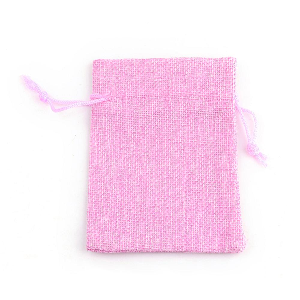 PandaHall_Burlap_Packing_Pouches_Drawstring_Bags_PearlPink_14x10cm_Cloth_Pink