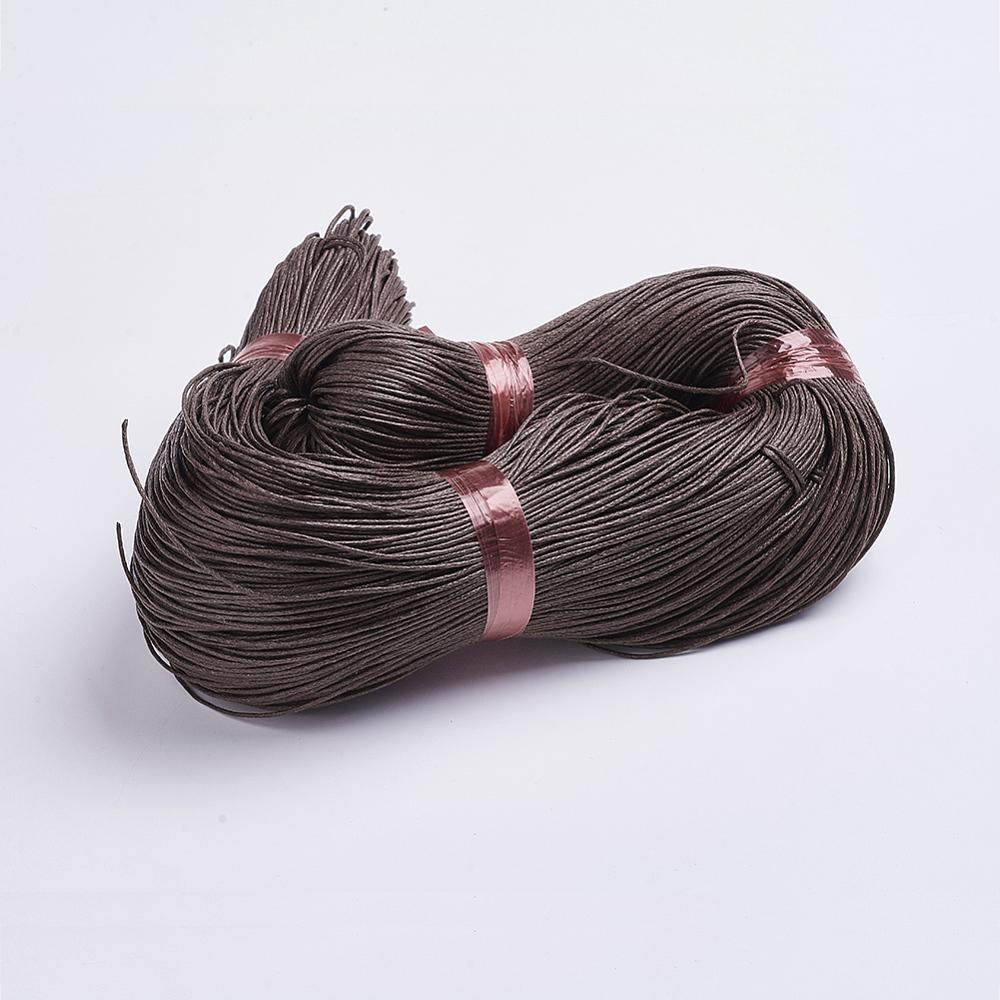 PandaHall_Chinese_Waxed_Cotton_Cord_Brown_1mm_about_350mbundle_Waxed_Cotton_Cord_Brown