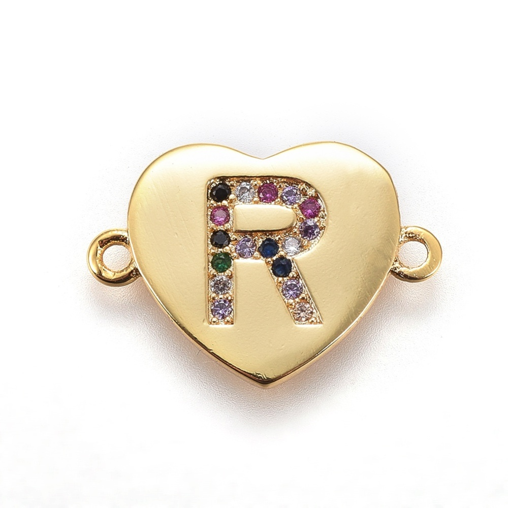 PandaHall_Brass_Micro_Pave_Cubic_Zirconia_Links_Heart_with_Alphabet_Colorful_Golden_LetterR_14~145x195~20x15mm_Hole_15mm