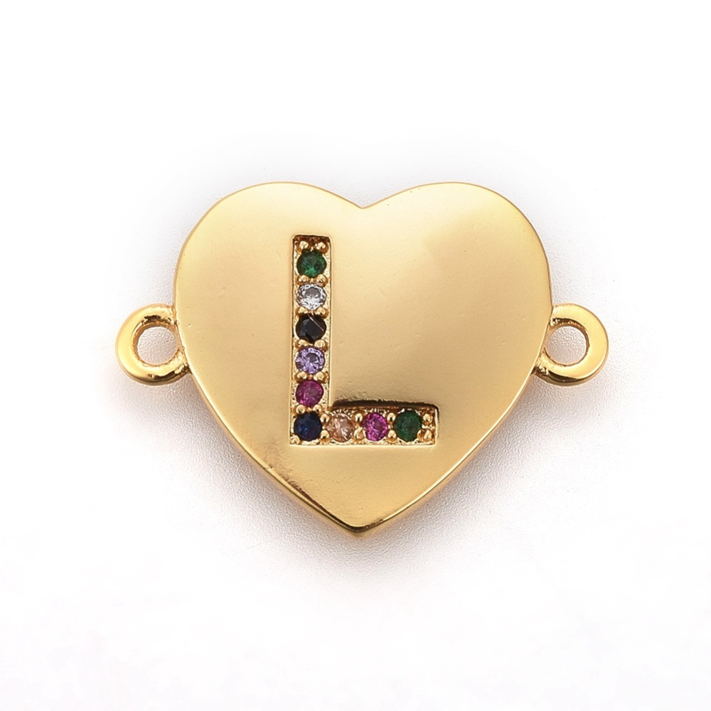 PandaHall_Brass_Micro_Pave_Cubic_Zirconia_Links_Heart_with_Alphabet_Colorful_Golden_LetterL_14~145x195~20x15mm_Hole_15mm