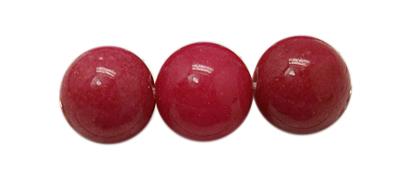 PandaHall Natural Mashan Jade Beads Strands, Dyed, Round, Crimson, 8mm, Hole: 1mm; about 50pcs/strand, 16