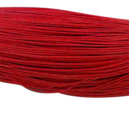 PandaHall Chinese Waxed Cotton Cord,  FireBrick,  2mm; about 350m/bundle Waxed Cotton Cord Red