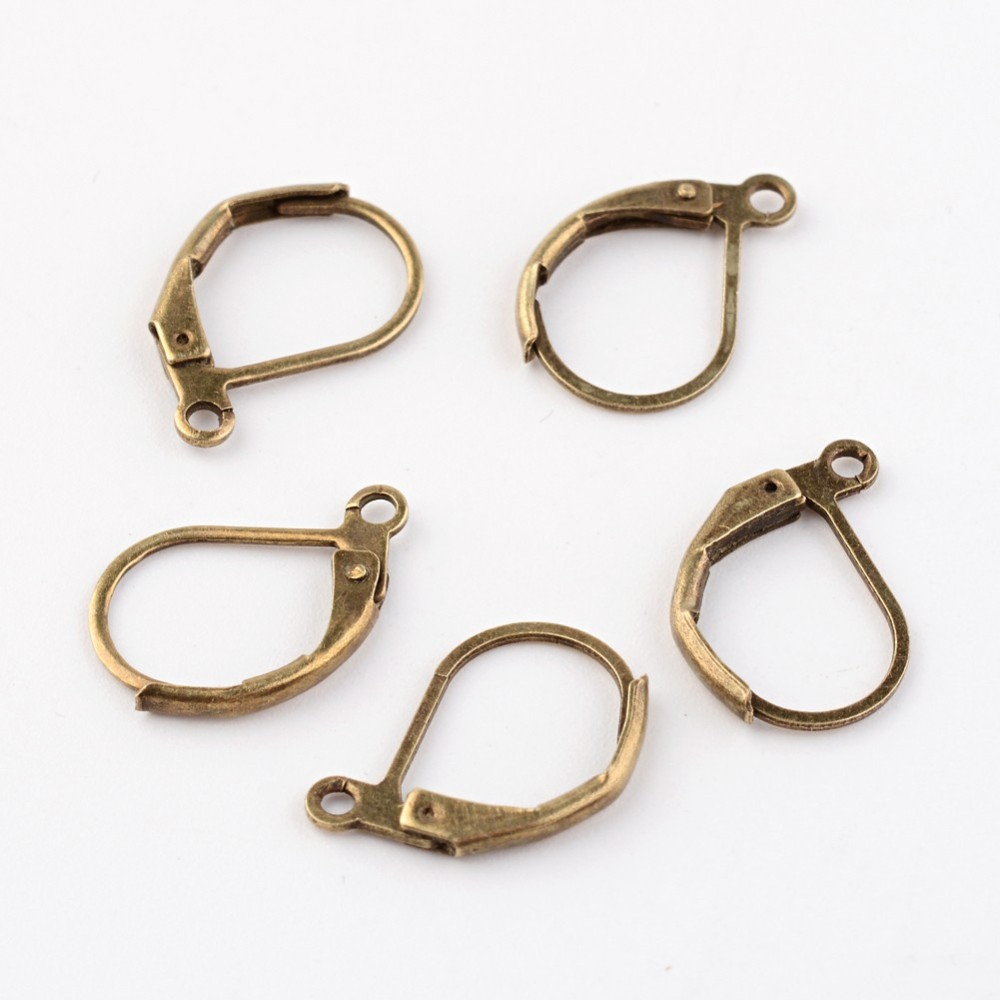 PandaHall_Brass_Leverback_Earring_Findings_Cadmium_Free_&_Nickel_Free_&_Lead_Free_Antique_Bronze_Nickel_Free_Size_about_10mm_wide_15mm