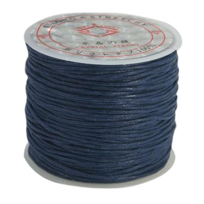 PandaHall_Cotton_Waxed_Cord_PrussianBlue_1mm_about_25mroll_Waxed_Cotton_Cord_Blue