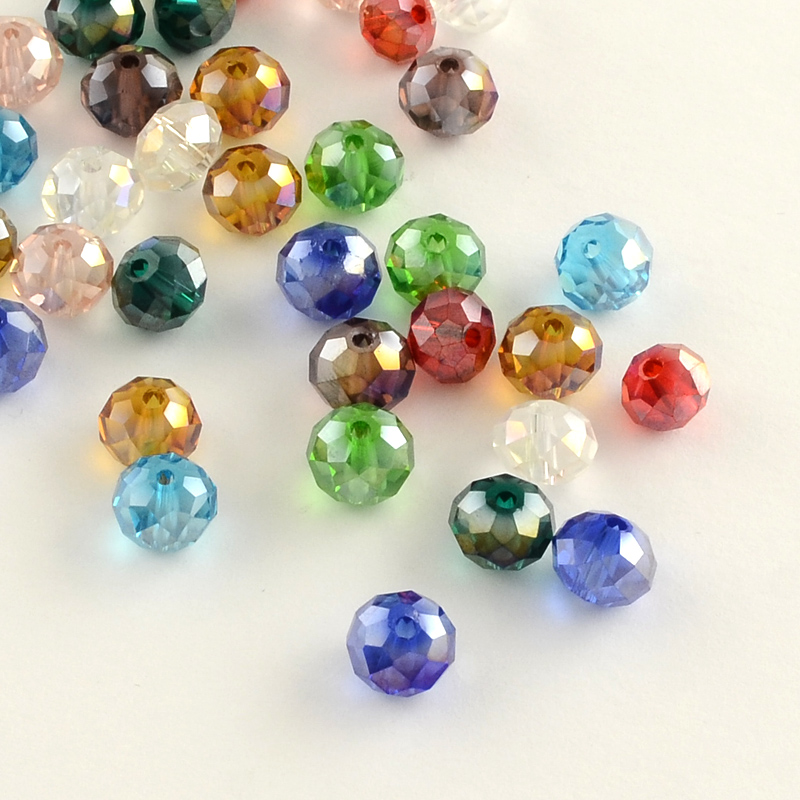 PandaHall_Electroplate_Faceted_Rondelle_AB_Color_Plated_Transparent_Glass_Beads_Mixed_Color_4x3mm_Hole_1mm_Glass_Rondelle_Multicolor