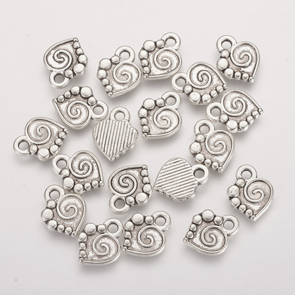 PandaHall_Alloy_Pendants_Lead_Free_Heart_Antique_Silver_13x10x2mm_Hole_2mm_Alloy_Heart