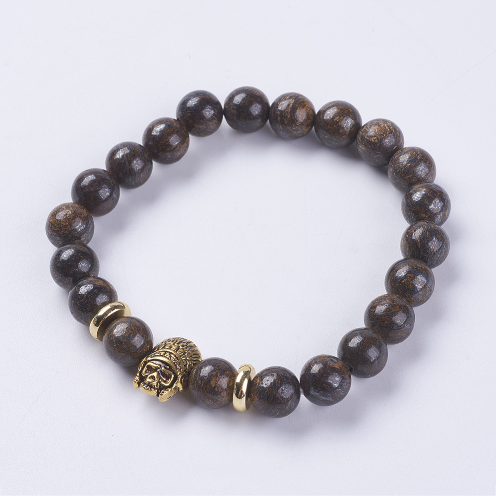 PandaHall_Natural_Gemstone_Beads_Stretch_Bracelets_with_Alloy_Finding_Skull_Antique_Golden_21855mm_Gemstone