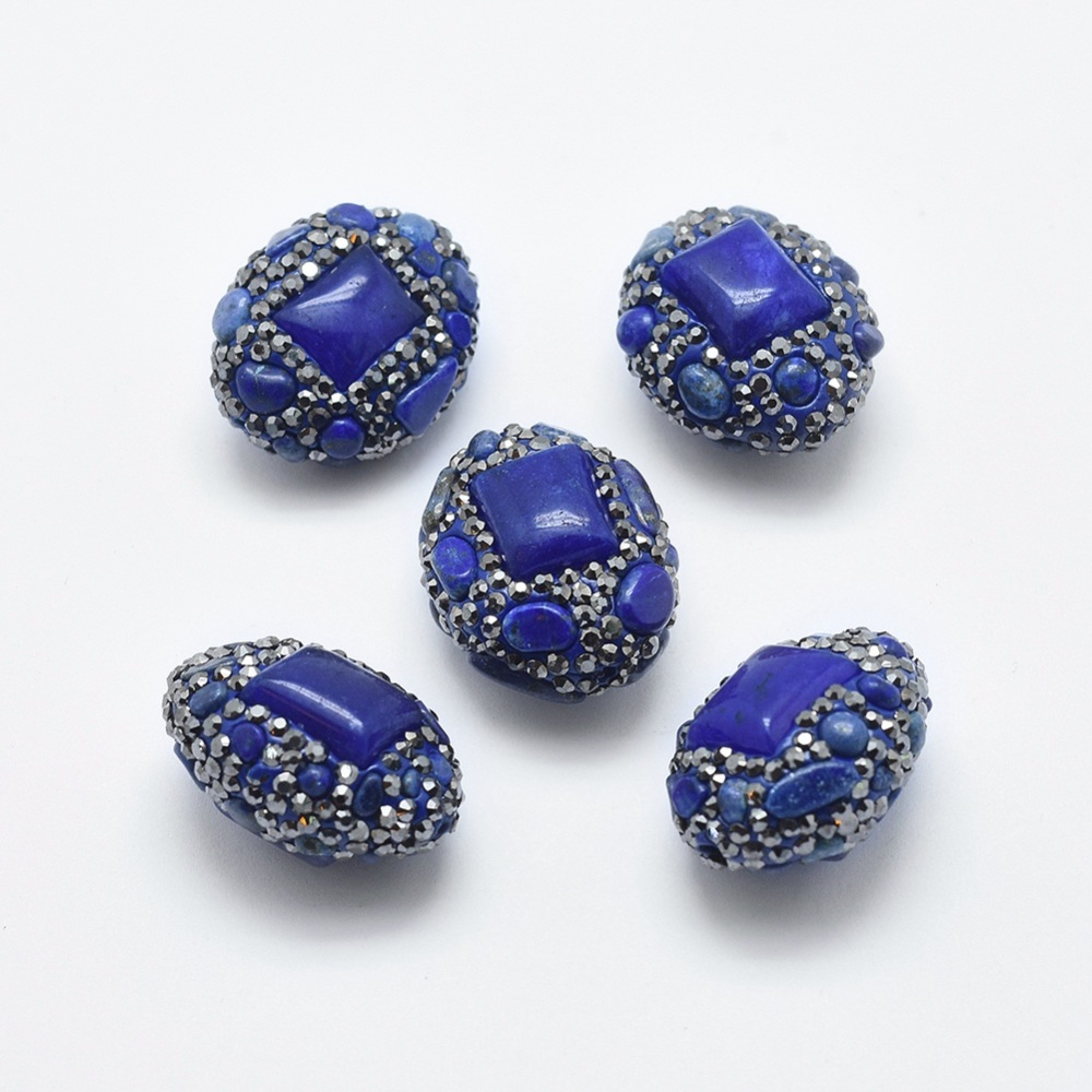 PandaHall_Natural_Lapis_Lazuli_Beads_with_Polymer_Clay_Rhinestone_and_Dyed_Natural_Jade_Oval_24~30x19~21x14~15mm_Hole_08mm_Lapis