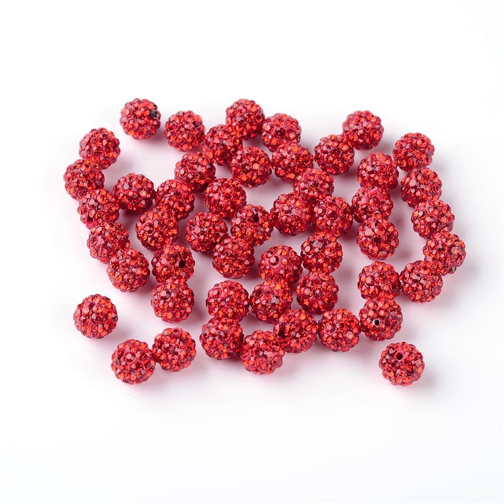 PandaHall_Polymer_Clay_Rhinestone_Beads_Pave_Disco_Ball_Beads_Grade_A_Half_Drilled_Round_Light_Siam_6mm_Hole_12mm_Polymer