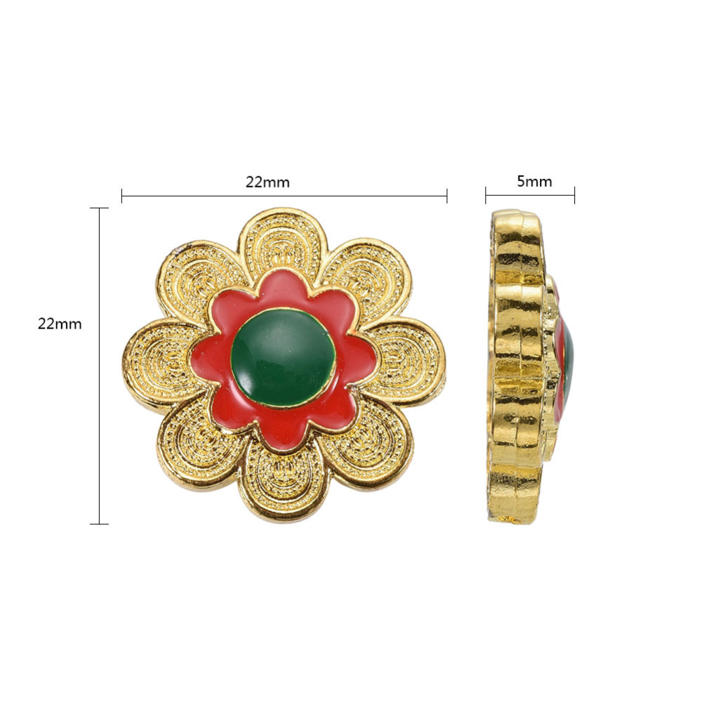PandaHall_Chinese_Style_Alloy_Enamel_Beads_Flower_Golden_Green_22x5mm_Hole_12mm_AlloyEnamel_Flower_Green