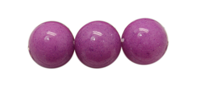 PandaHall Natural Mashan Jade Beads Strands, Dyed, Round, DarkOrchid, 8mm, Hole: 1mm; about 50pcs/strand, 16