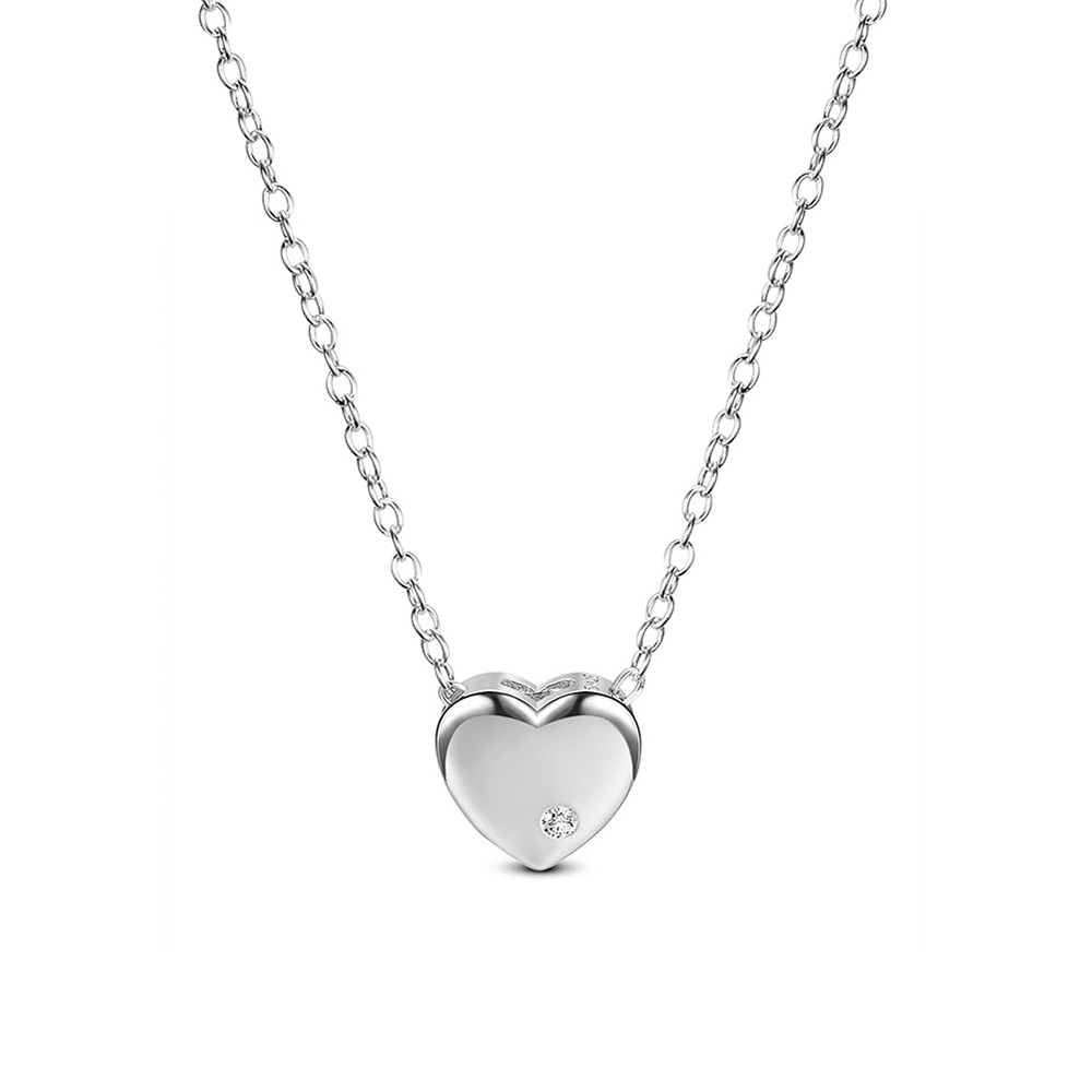PandaHall SHEGRACE&reg Classic 925 Sterling Silver Necklace, with AAA Cubic ..