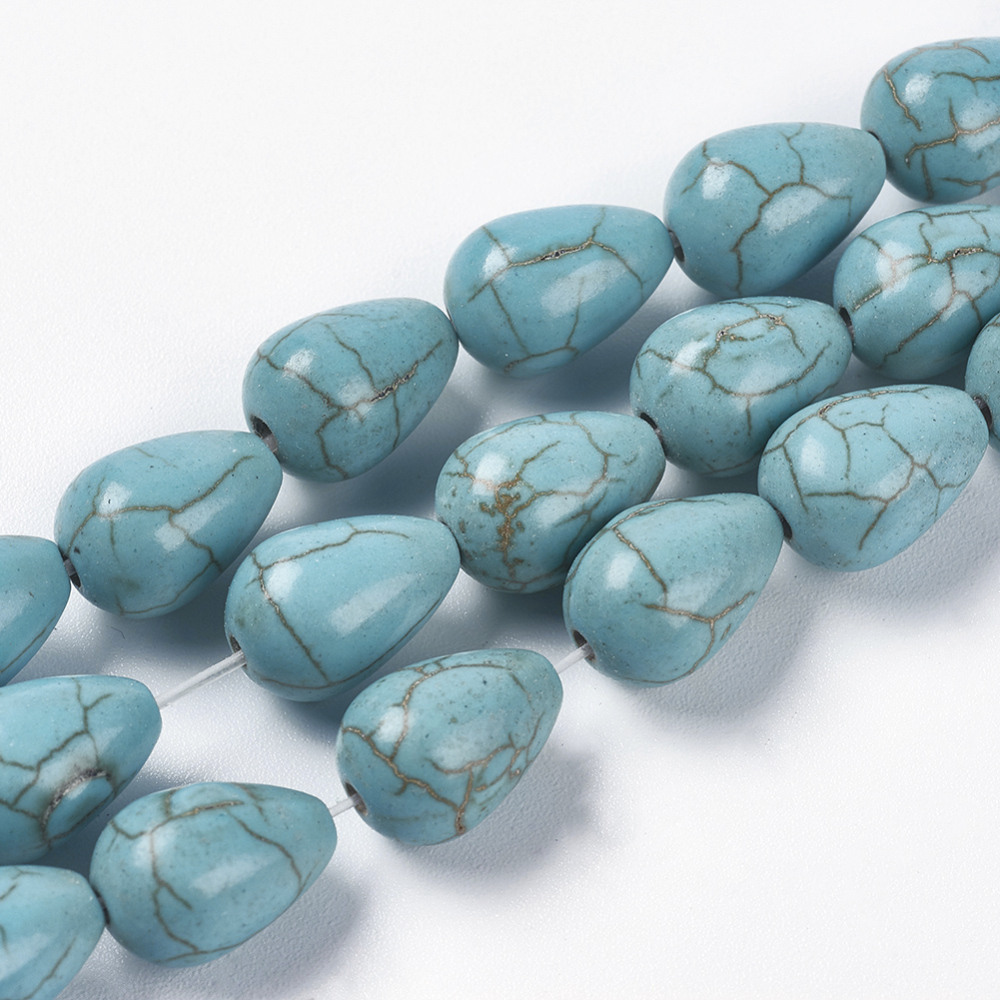 PandaHall_Synthetic_Turquoise_Beads_Strands_Drop_Dyed_&_Heated_Turquoise_115x88mm_Hole_15mm_about_33pcsstrand_1488378cm