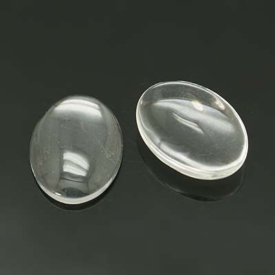 PandaHall_Transparent_Glass_Cabochons_Oval_Clear_25x18mm_54mmRange_49~59mm_thick_Glass_Oval_Clear