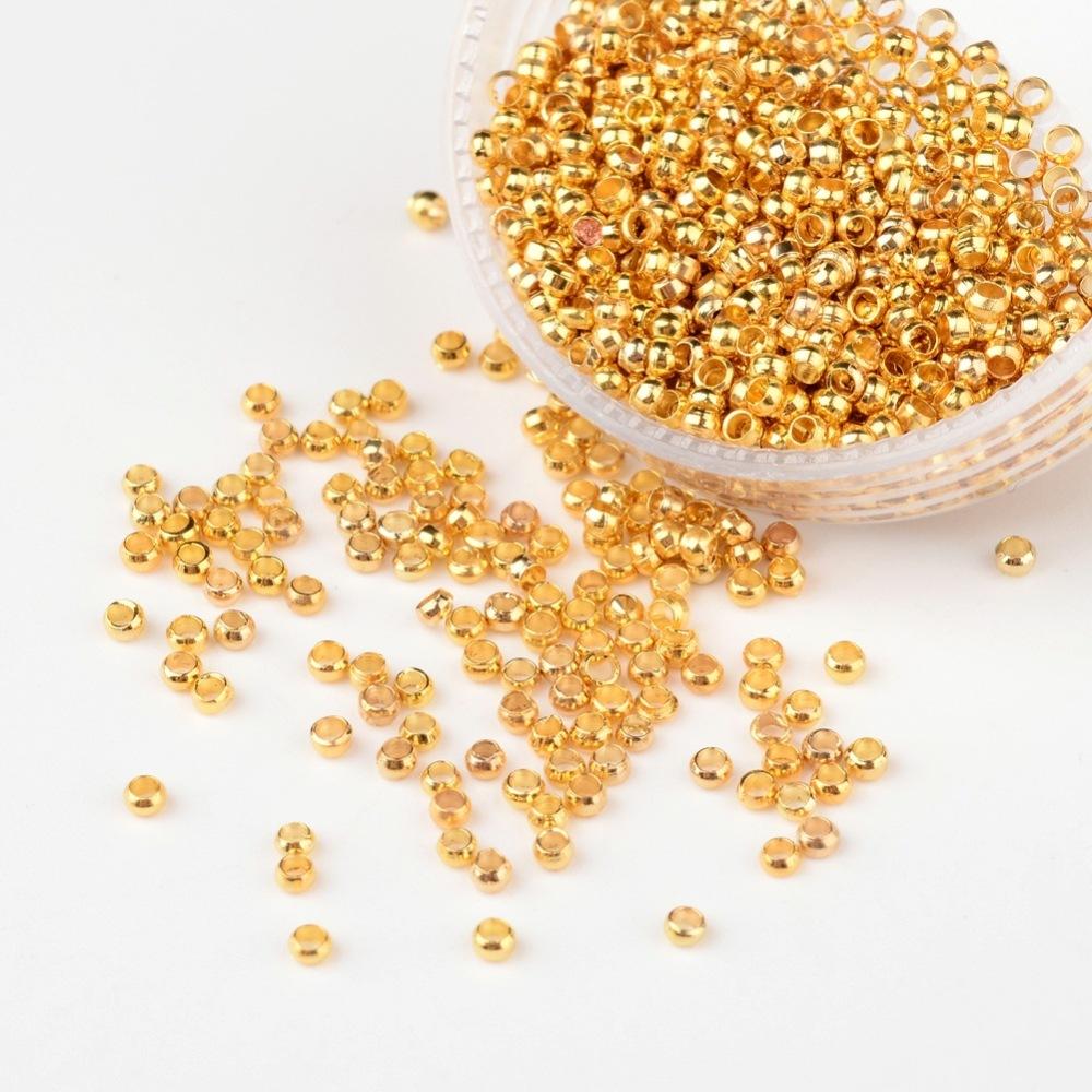 PandaHall_Brass_Crimp_Beads_Barrel_Golden_Color_about_2mm_in_diameter_12mm_long_hole_12mm_Brass_Barrel