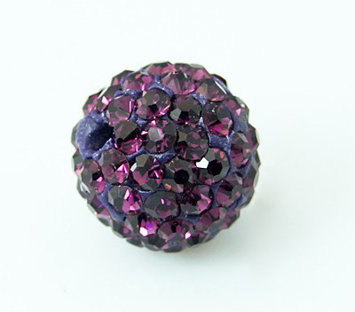 PandaHall Polymer Clay Rhinestone Beads, Pave Disco Ball Beads, Grade A, Ame..