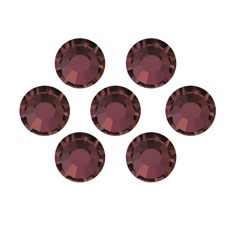 PandaHall_Hotfix_Rhinestones_Czech_Rhinestone_Flat_Back_&_Faceted_Half_Round_Burgundy_SS16_38~4mm_about_1440pcsbag_Czech_Glass_Half