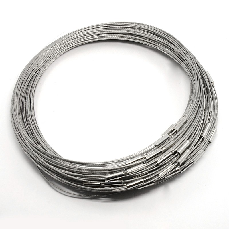 PandaHall_Necklace_Loop_with_Brass_Clasps_Made_of_Steel_Wire_Gray_175_1mm_Steel_Gray