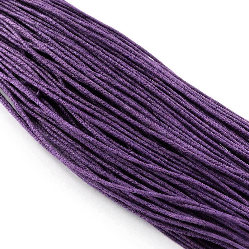 PandaHall_Chinese_Waxed_Cotton_Cord_Purple_2mm_about_350mbundle_Waxed_Cotton_Cord_Purple