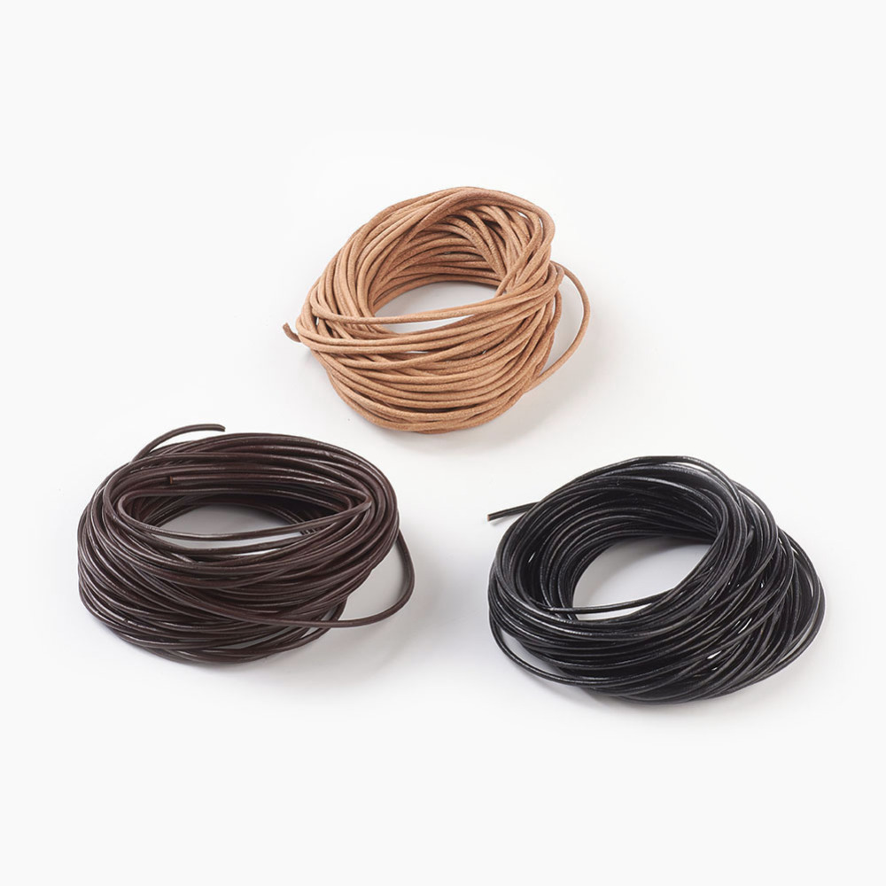 PandaHall_Cowhide_Leather_Cord_Leather_Jewelry_Cord_Jewelry_DIY_Making_Material_Round_Mixed_Color_2mm_10mBundle_Cowhide_Multicolor