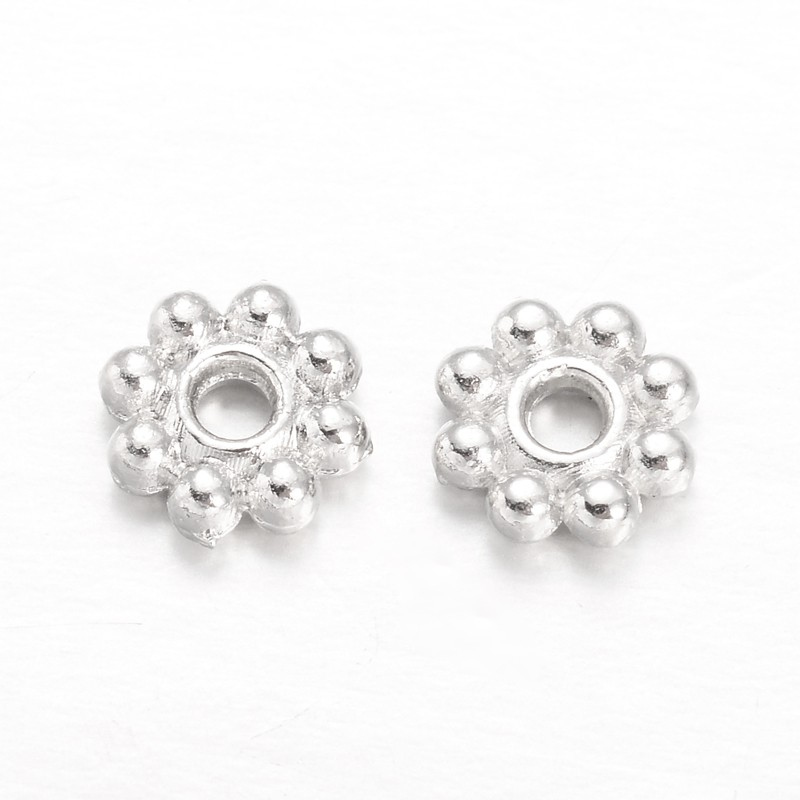 PandaHall_Flower_Alloy_Bead_Spacers_Silver_5x15mm_Hole_1mm_Alloy_Flower
