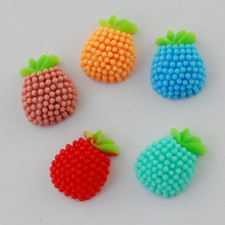 PandaHall_Resin_Cabochons_Fruit_Mixed_Color_13x10x5mm_Resin_Fruit_Multicolor