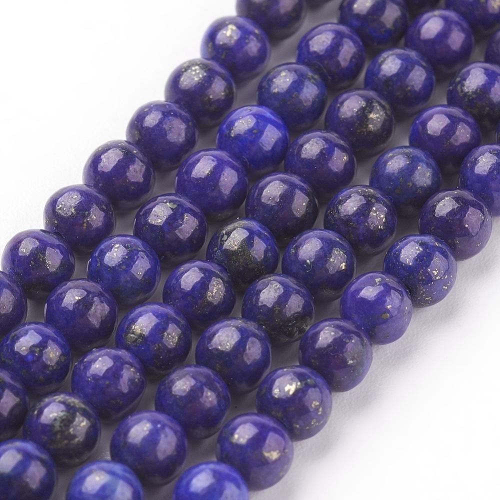 PandaHall_Natural_Lapis_Lazuli_Beads_Strands_Dyed_Round_Blue_4mm_Hole_1mm_Lapis_Lazuli_Round_Blue