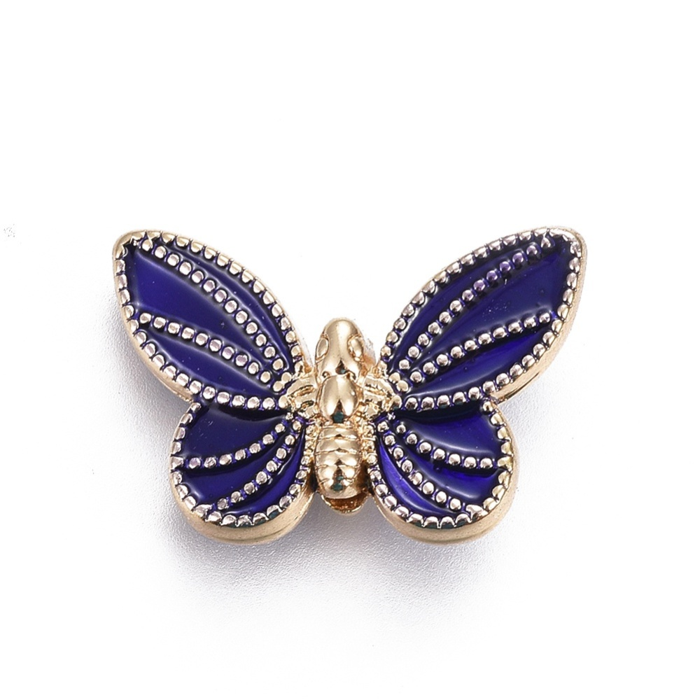 PandaHall_Alloy_Beads_with_Enamel_Butterfly_DarkBlue_Light_Gold_14x21x58mm_Hole_2mm_AlloyEnamel_Butterfly_Blue