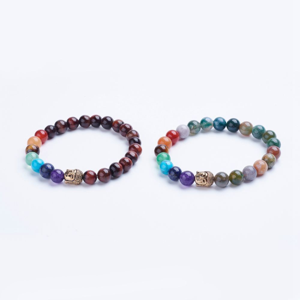 PandaHall_Natural_Mixed_Stone_Beaded_Stretch_Bracelets_with_Alloy_Spacer_Beads_Antique_Golden_13445mm_Mixed_Stone