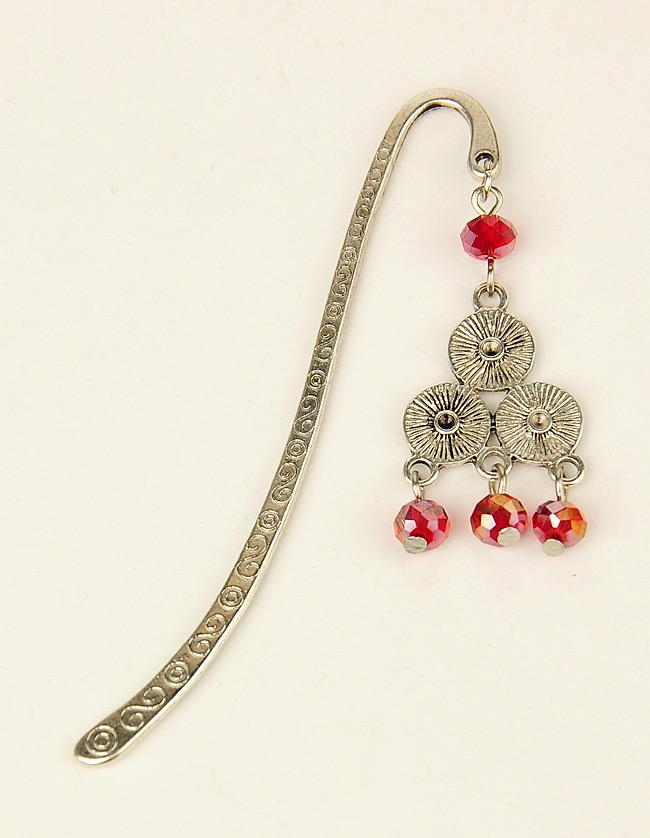 PandaHall_Tibetan_Style_BookmarksHairpins_with_Glass_Beads_Red_84mm_Alloy_Red