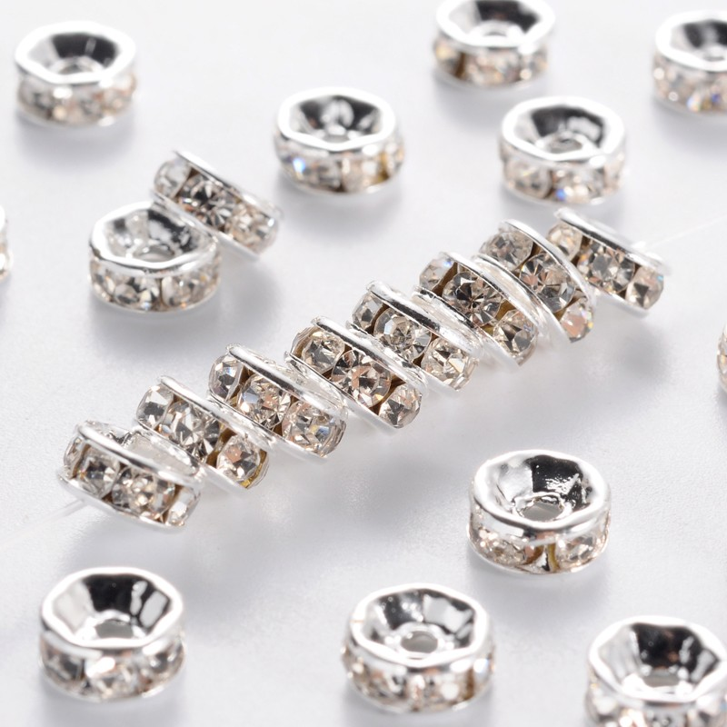 PandaHall_Brass_Grade_A_Rhinestone_Spacer_Beads_Silver_Metal_Color_Nickel_Free_Crystal_6x3mm_Hole_1mm_BrassRhinestone_Rondelle_Silver