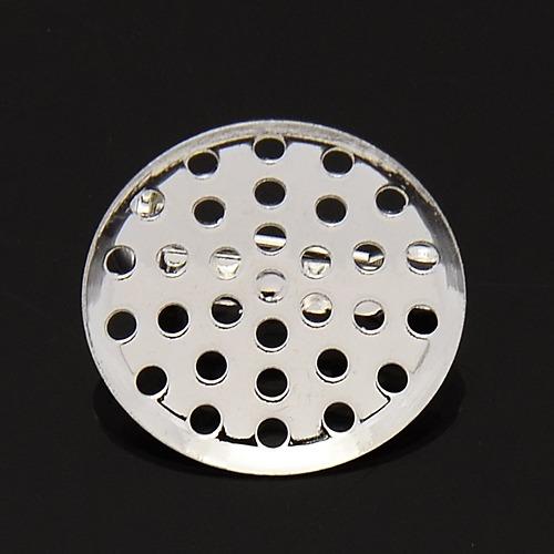 PandaHall Iron Back Bar Pin Brooch Setting Findings, with Brass Base, Silver..