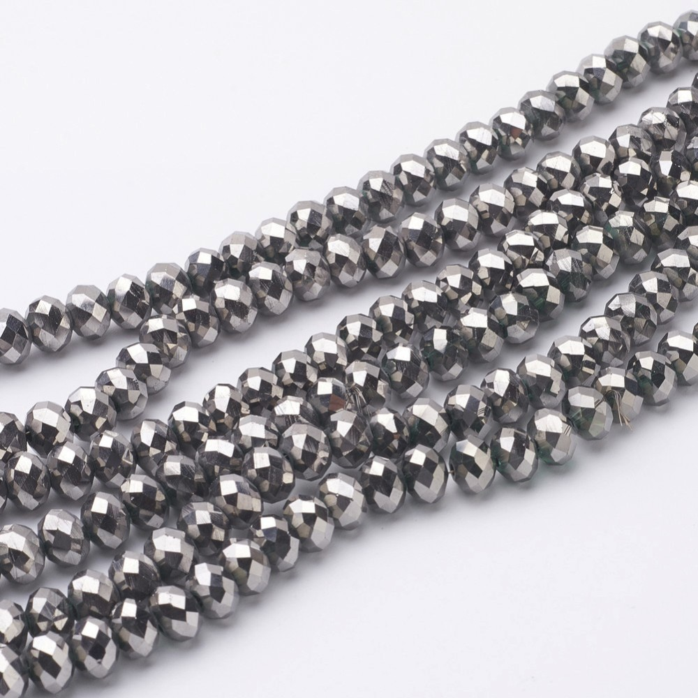 PandaHall_Electroplate_Glass_Beads_Strands_Faceted_Rondelle_Silver_Plated_8x6mm_Hole_1mm_about_72pcsstrand_15_Glass_Rondelle