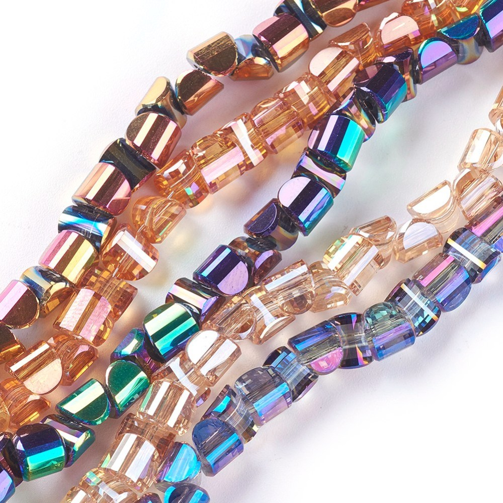 PandaHall_Electroplate_Glass_Beads_Strands_Faceted_Mixed_Color_55~6x5x4mm_Hole_1mm_about_145~14937~38cm_long_96~101pcsstrand