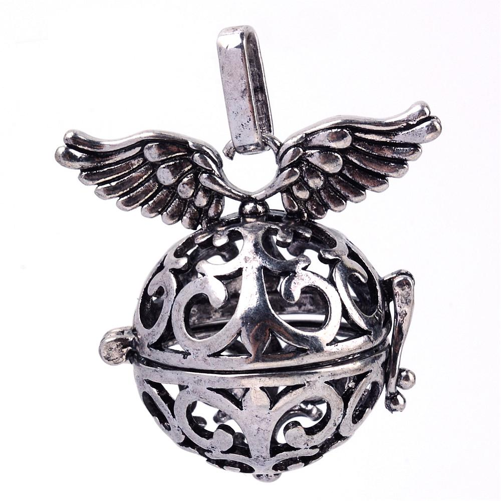 PandaHall_Rack_Plating_Brass_Cage_Pendants_For_Chime_Ball_Pendant_Necklaces_Making_Hollow_Round_with_Wing_Antique_Silver_30x31x21mm