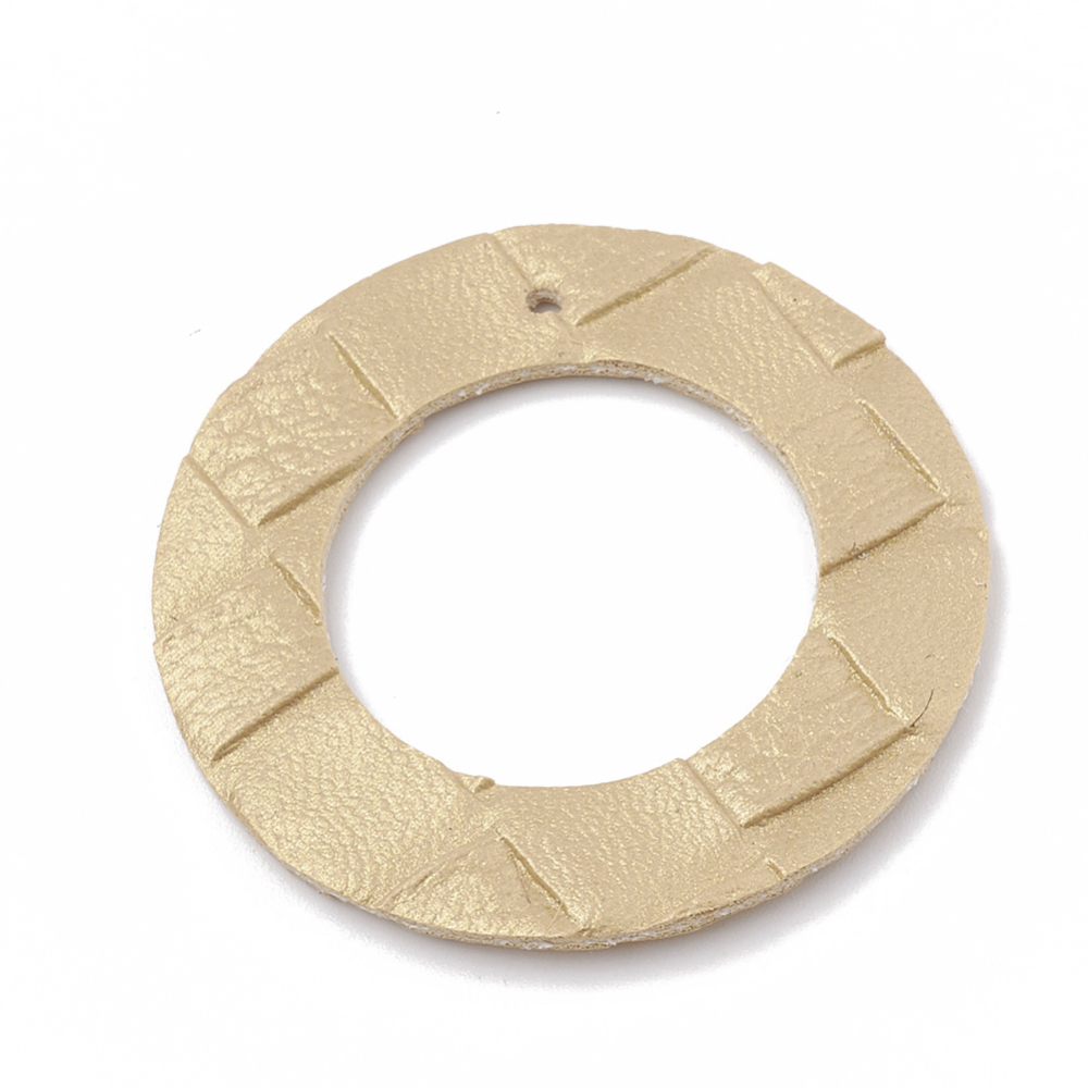 PandaHall_Imitation_Leather_Pendants_Ring_Wheat_42x15mm_Hole_18mm_Imitation_Leather_Ring_Orange