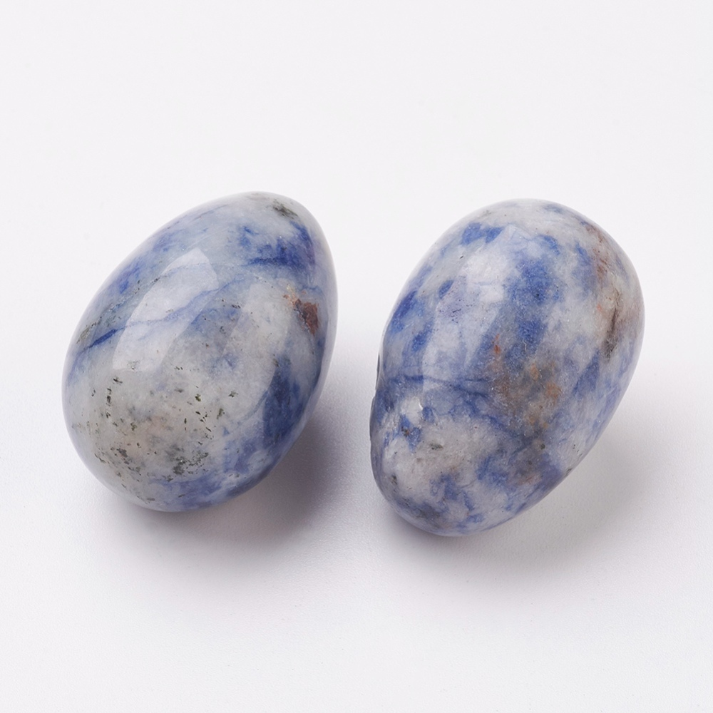 PandaHall_Natural_Blue_Spot_Stone_Home_Display_Decorations_Easter_Egg_Stone_30~31x195~20mm_Blue_Spot_Stone_Oval