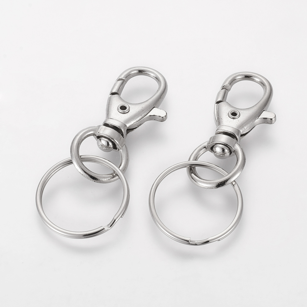 PandaHall_Iron_Swivel_Clasps_with_Key_Rings_Platinum_25x60mm_Iron