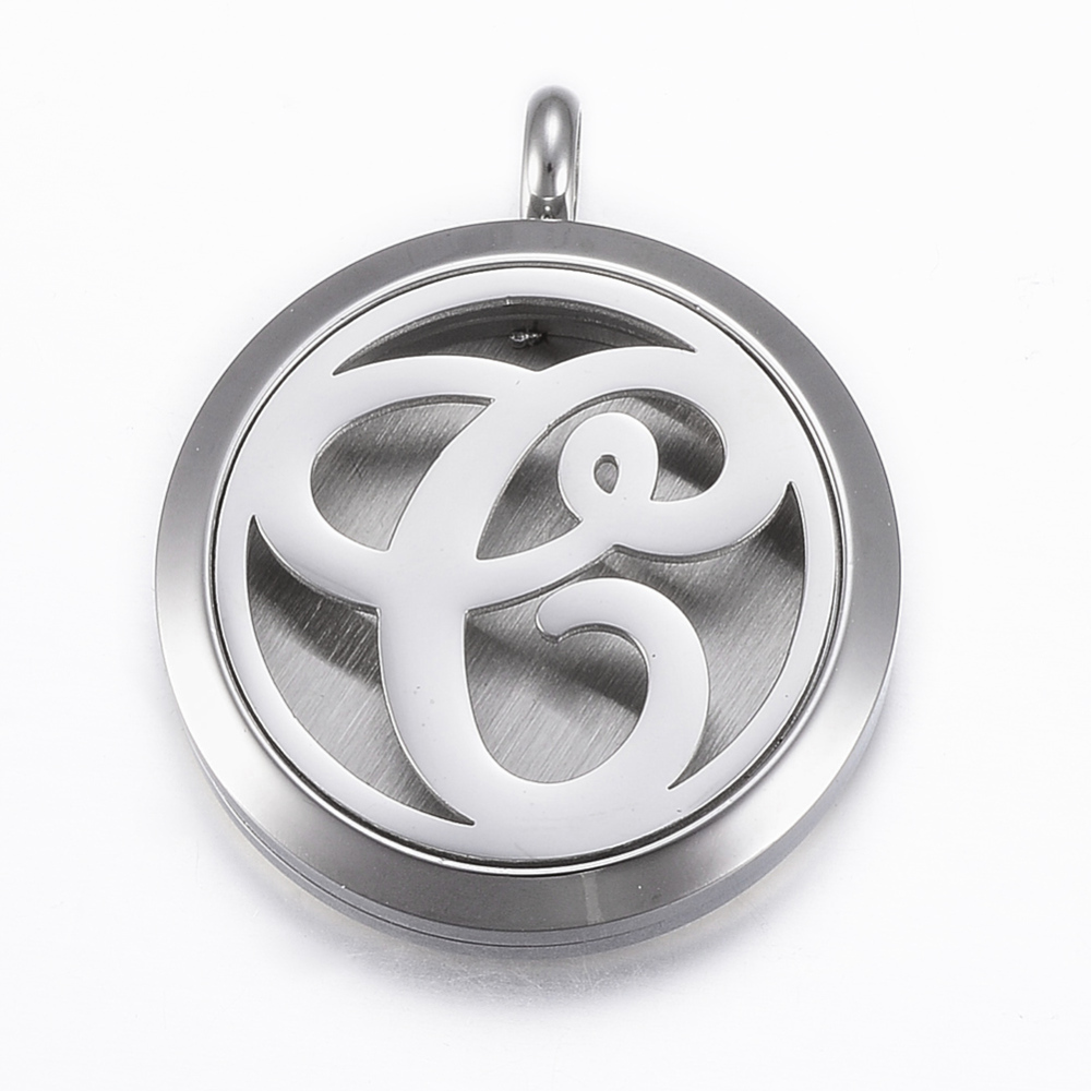 PandaHall_316_Stainless_Steel_Diffuser_Locket_Pendants_with_Perfume_Pad_and_Magnetic_Clasps_Flat_Round_with_LetterC_Stainless_Steel