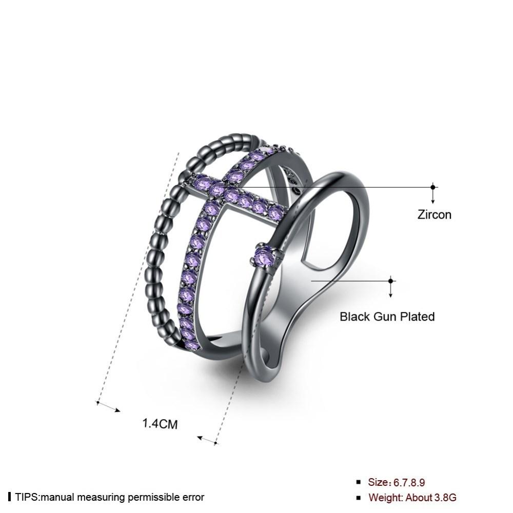 PandaHall_Trendy_Brass_Cubic_Zirconia_Finger_Rings_Wide_Band_Rings_Size_6_Purple_Gunmetal_165mm_BrassCubic_Zirconia_Purple