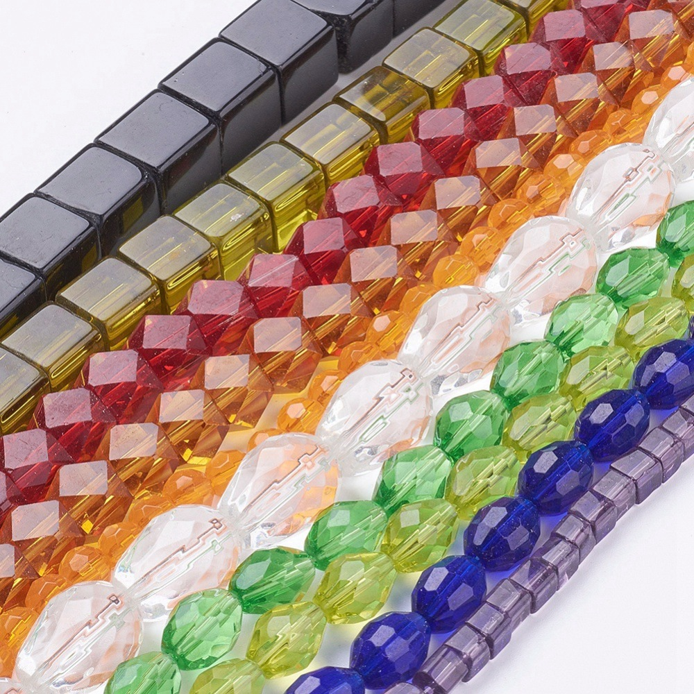 PandaHall_Glass_Bead_Strands_Mixed_Shapes_Mixed_Color_about_4~23mm_long_4~18mm_wide_4~10mm_thick_hole_1~2mm_10~14strand_about