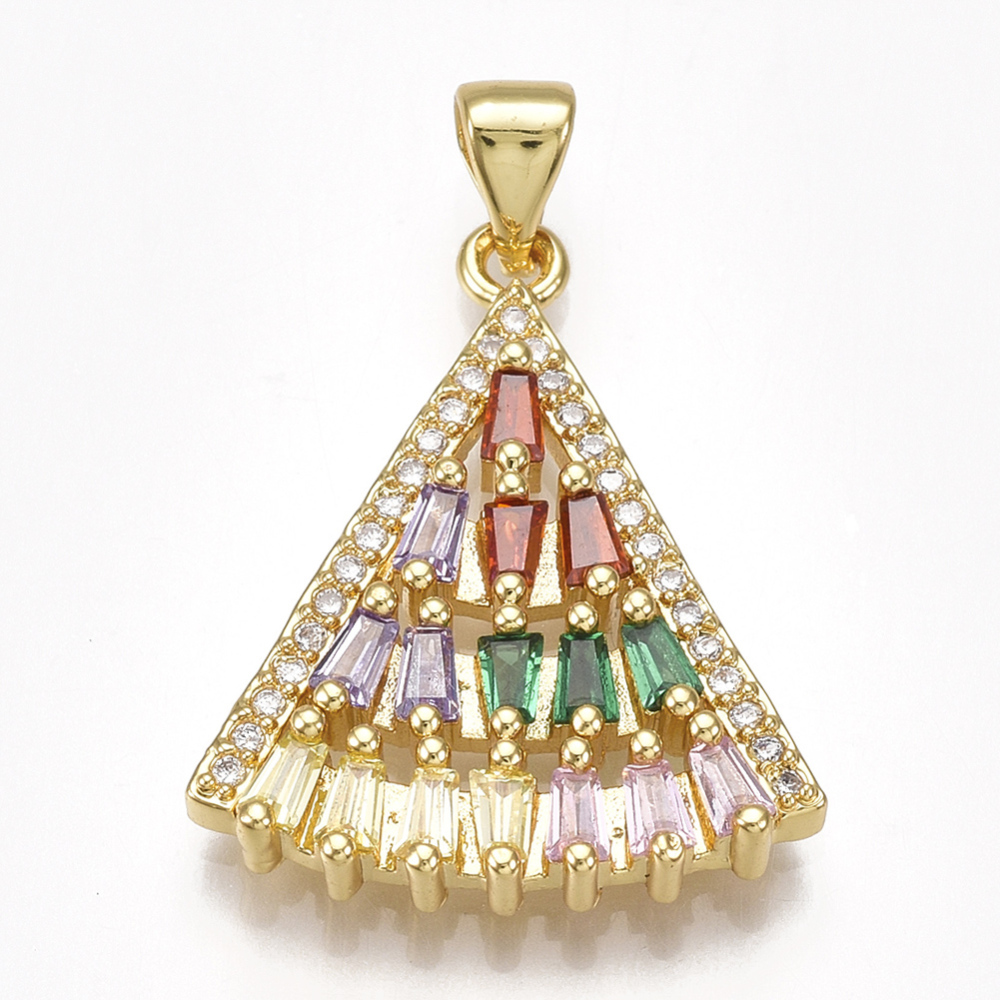 PandaHall_Brass_Cubic_Zirconia_Pendants_Fan_Shape_Colorful_Golden_24x195x35mm_Hole_45x3gmm_BrassCubic_Zirconia_Fan