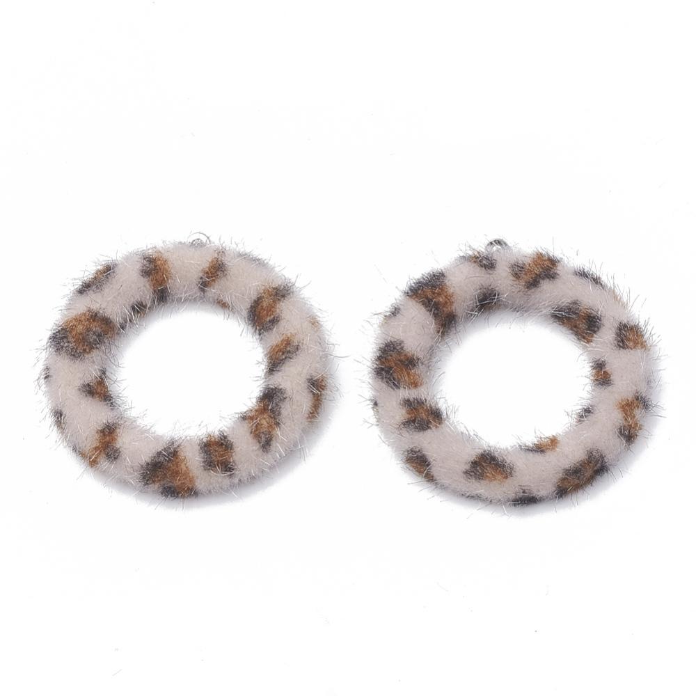 PandaHall_Imitation_Mink_Fur_Covered_ Pendants_with_Aluminum_Bottom_Ring_Thistle_40x355x45mm_Hole_1mm_Cloth_Ring_Purple