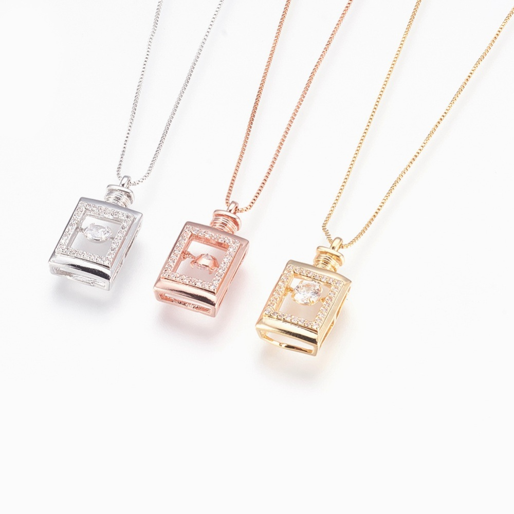 PandaHall_Brass_Pendant_Necklaces_with_Cubic_Zirconia_Lead_Free_&_Cadmium_Free_&_Nickel_Free_LongLasting_Plated_Bottle_Mixed_Color
