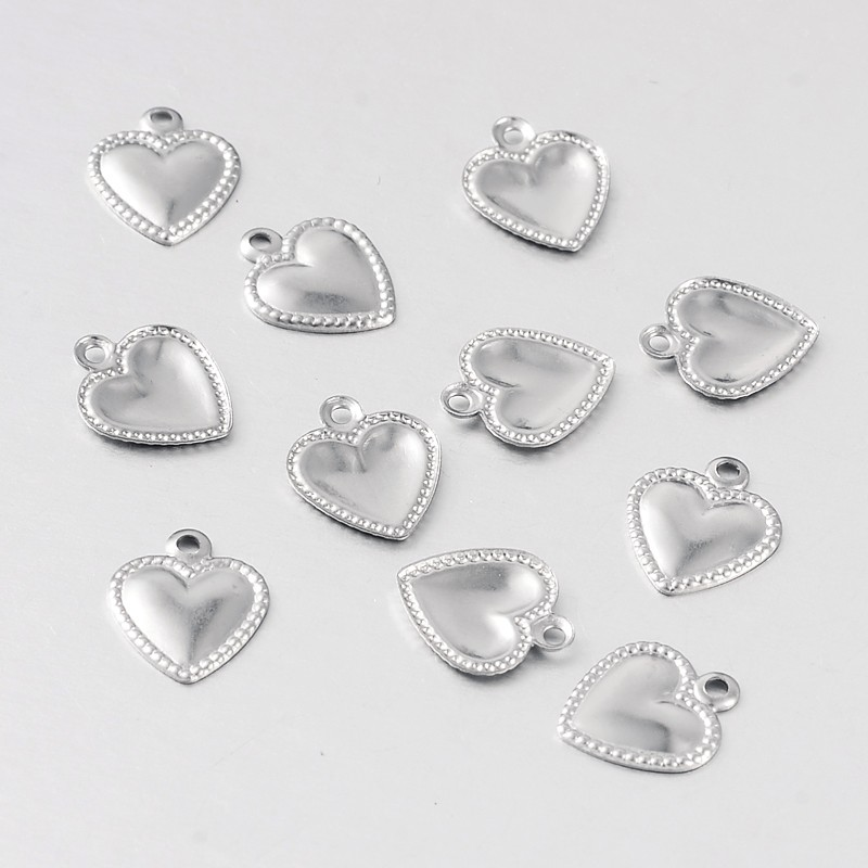 PandaHall_Heart_316_Stainless_Steel_Filigree_Charms_Stainless_Steel_Color_10x8x1mm_Hole_1mm_Stainless_Steel_Heart