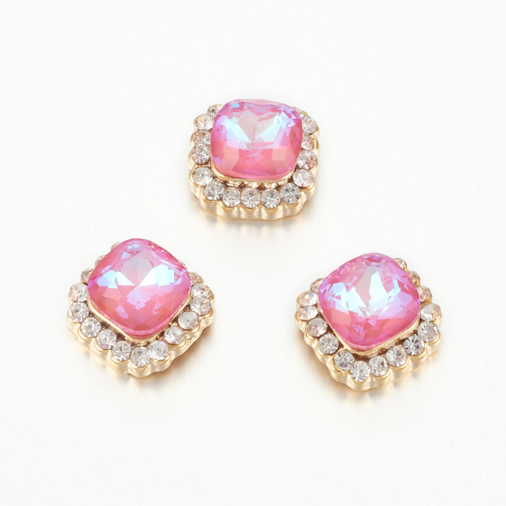 PandaHall_K9_Glass_Rhinestone_Cabochons_with_Alloy_Findings_Imitation_Austrian_Crystal_Nail_Art_Decoration_Accessories_Faceted_Square