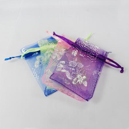 PandaHall_Organza_Bags_Rectangle_Mixed_Color_9x7cm_Organza_Rectangle_Multicolor