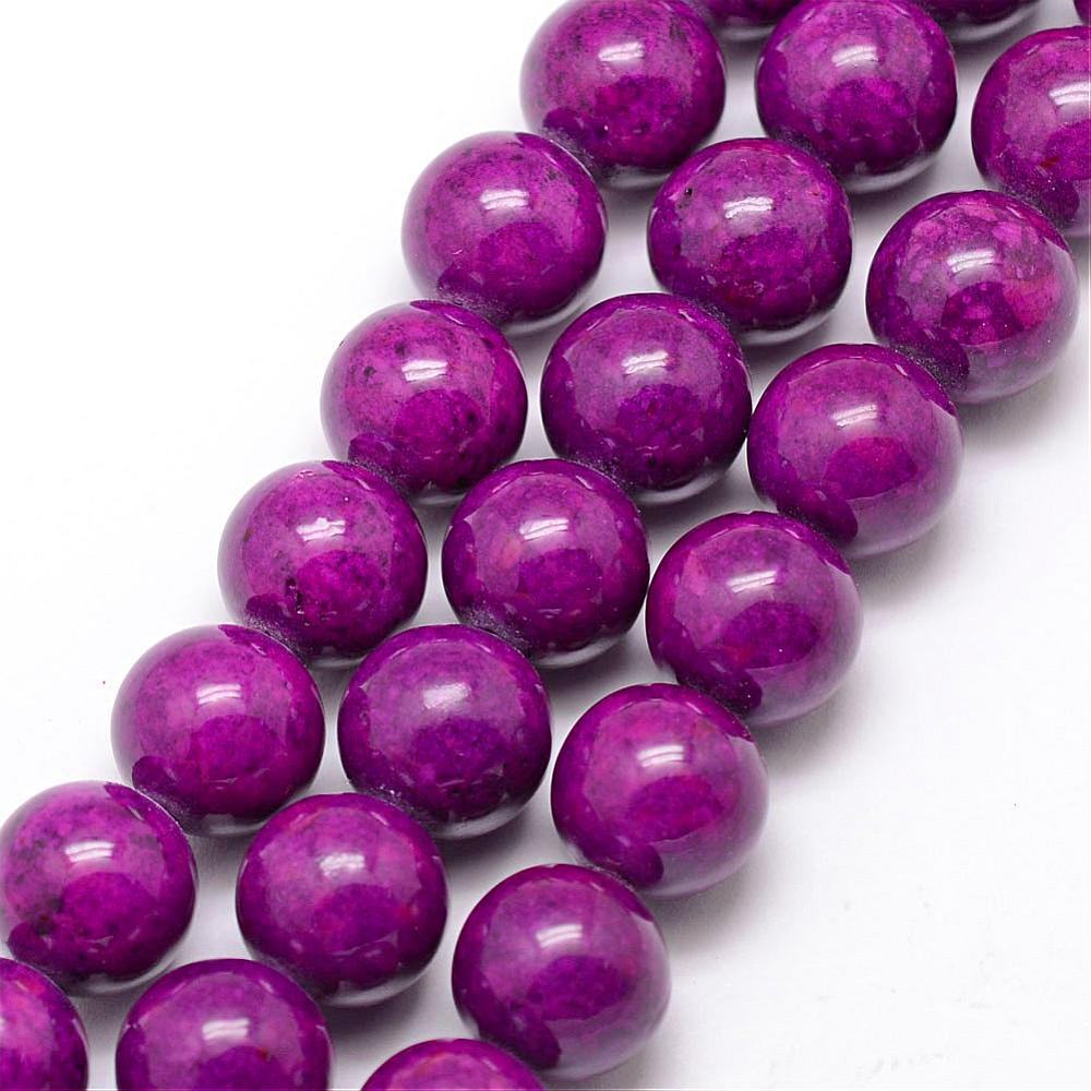 PandaHall_Fossil_Beads_Dyed_Round_Purple_10mm_Hole_08mm_about_40pcsstrand_16_Fossil_Round_Purple