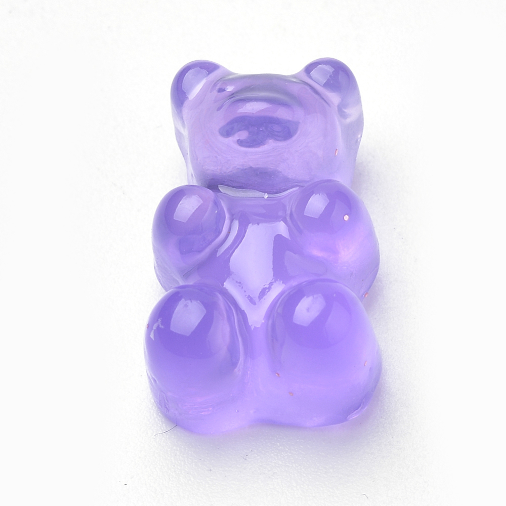 PandaHall_Resin_Cabochons_Bear_MediumPurple_175x105x75mm_Resin_Bear_Purple